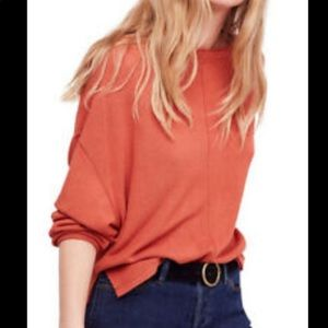 FREE PEOPLE Be Good Terry Pullover in Terracotta
